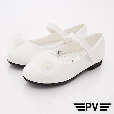 PV日系私藏 蕾絲花漾公主鞋款 8653白(中小童段)