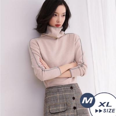 【LANNI 藍尼】俐落高立領針織衫-4色(M-XL)●
