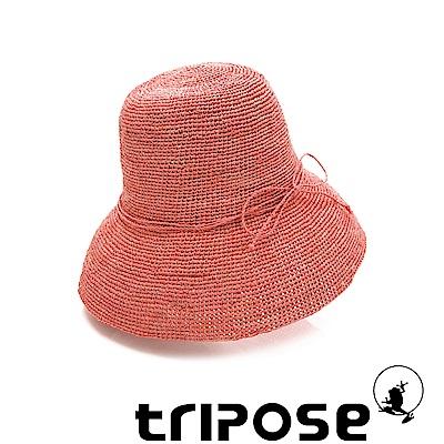 tripose 經典優雅-100%手工Raffia時尚遮陽草帽-帽簷-10cm(粉色)
