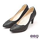 ee9 MIT經典手工 璀璨迷人鑲嵌閃耀亮鑽高跟鞋 黑色