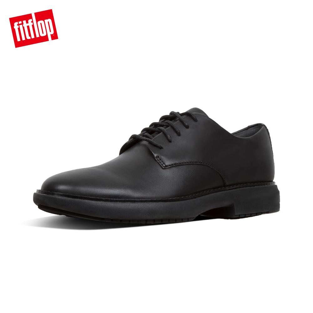 FitFlop HENRI LEATHER OXFORD SHOES-黑色