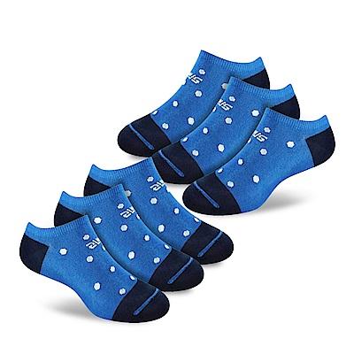 SNUG健康除臭襪 奈米消臭時尚船襪6入組(藍白點)