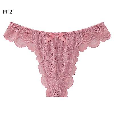aimerfeel 單品內褲  淑女 蕾絲交叉包覆丁字褲  單品內褲 -603723-PI12