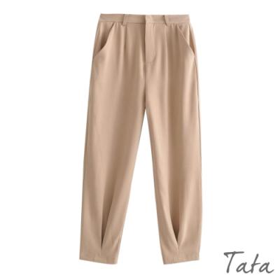 素色抓摺類老爺褲 共二色 TATA-(S~L)