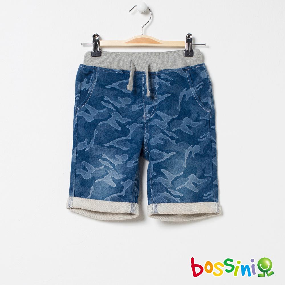 bossini男童-丹寧休閒短褲01淡藍