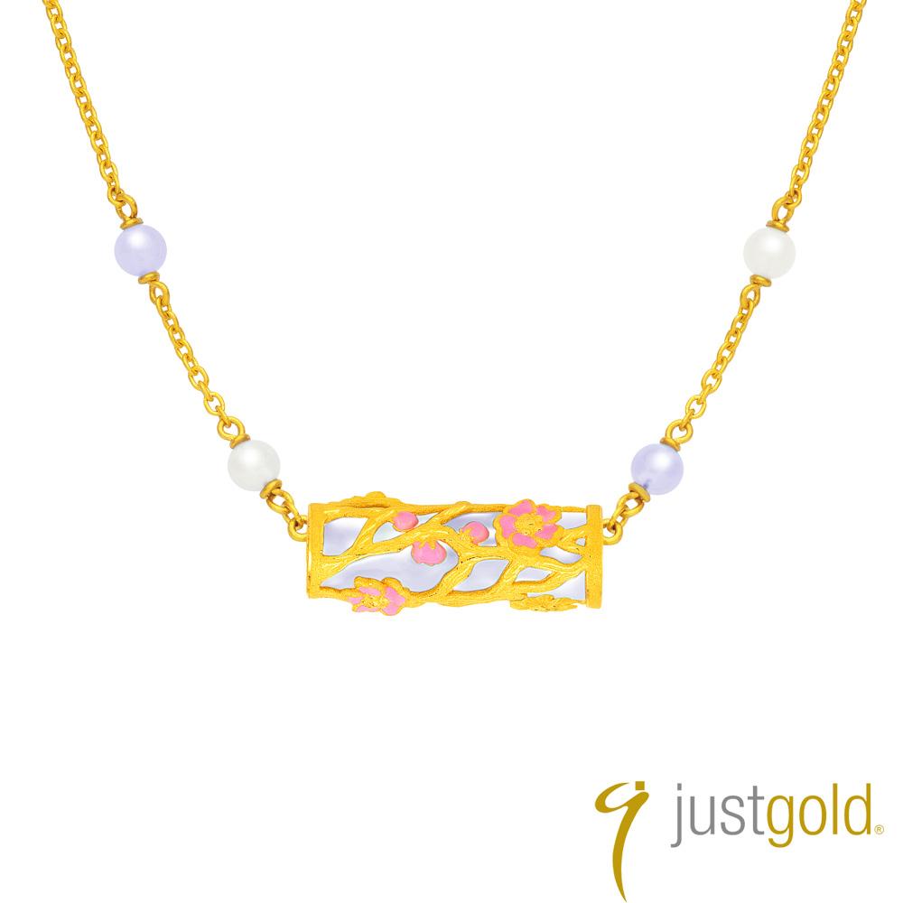 鎮金店Just Gold 喜‧玲瓏純金系列 黃金項鍊