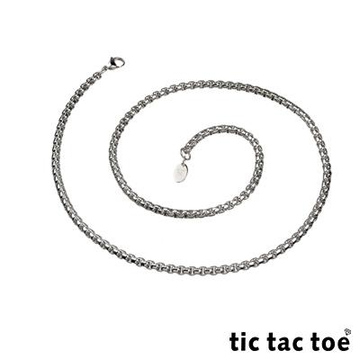 tic tac toe 白鋼造型單鍊-方塊(大)