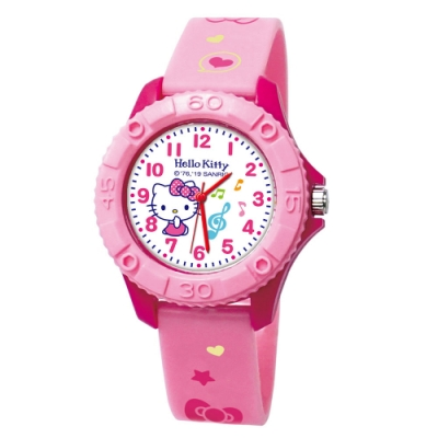 Sanrio三麗鷗雙色殼兒童手錶35mm 動感Kitty