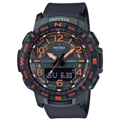 PROTREK 潮流運動冒險家風格數字設計藍芽錶-(PRT-B50FE-3)