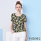 【YIDIE衣蝶】繽紛花朵質感雕花上衣