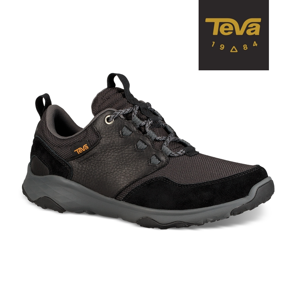 【TEVA】原廠貨 男 Arrowood Venture WP 低筒防水牛皮機能休閒鞋/登山鞋(黑-TV1106131BLK)