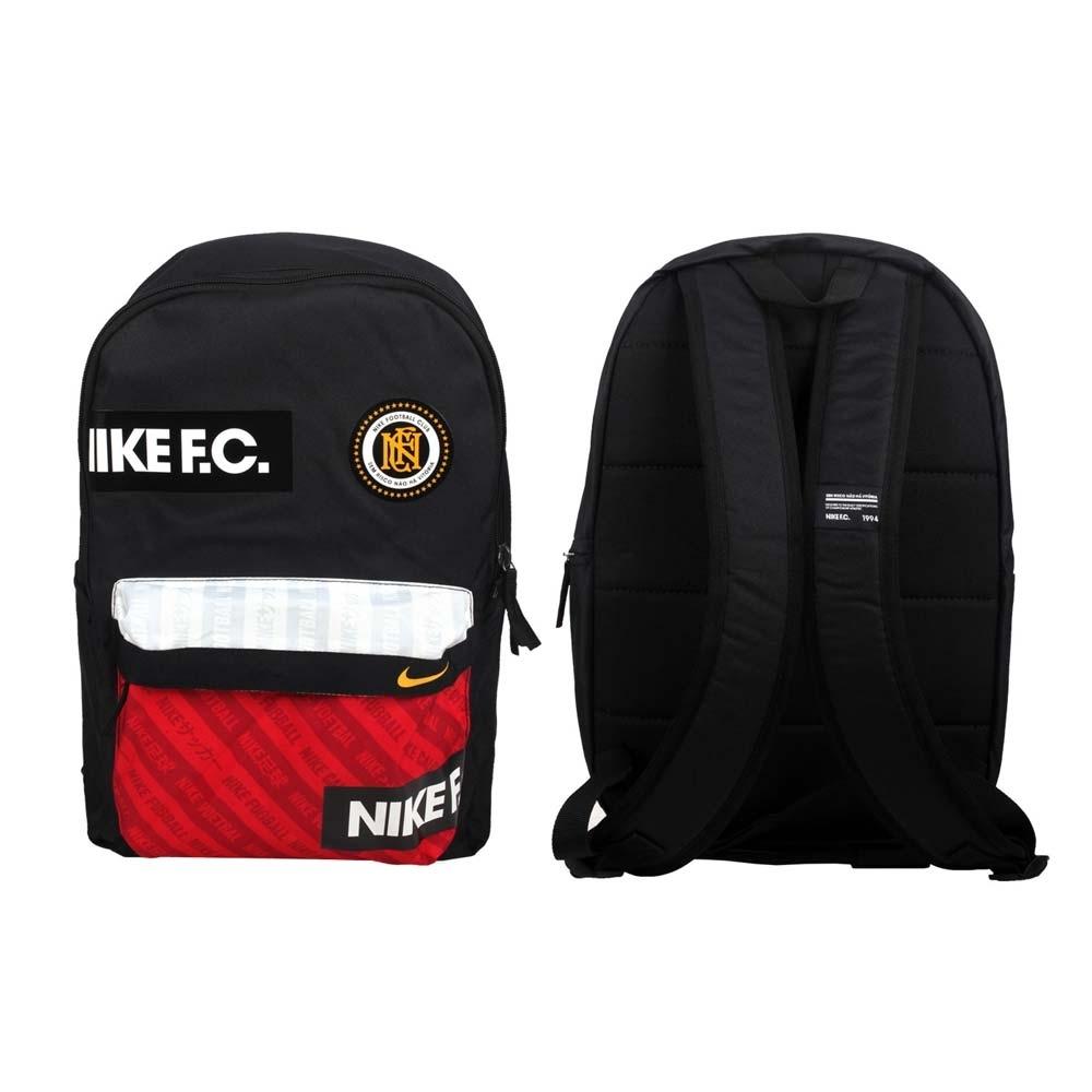 NIKE 大型後背包-F.C. 足球系列 雙肩包 肩背包 旅行包 BA6159-010 黑紅黃白