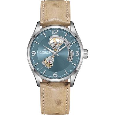 Hamilton 漢米爾頓 JAZZMASTER爵士系列OPEN HEART 80小時自動腕錶(H32705842)-42mm