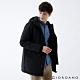 GIORDANO 男裝多口袋鋪棉連帽外套 - 09 標誌黑 product thumbnail 1