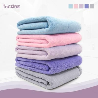 【Incare】特級棉絨加厚吸水超大浴巾(3入組/五色任選)