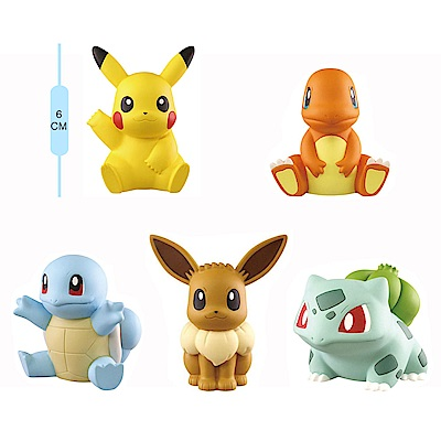Takara Tomy 扭蛋轉蛋 寶可夢 Pokemon 軟膠公仔 (一套全5種)