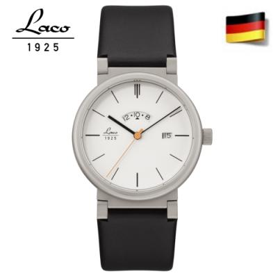 Laco朗坤880202簡潔休閒男士錶-白