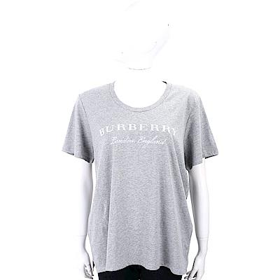 BURBERRY 混色灰字母棉質T恤