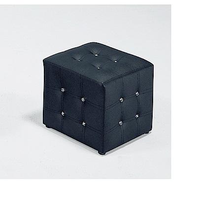 LOVE樂芙-小方椅/黑色-寬34深34高35公分