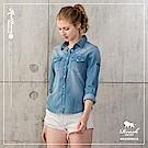 ROUSH 女生雙口袋釘釦水洗牛仔襯衫(2色)