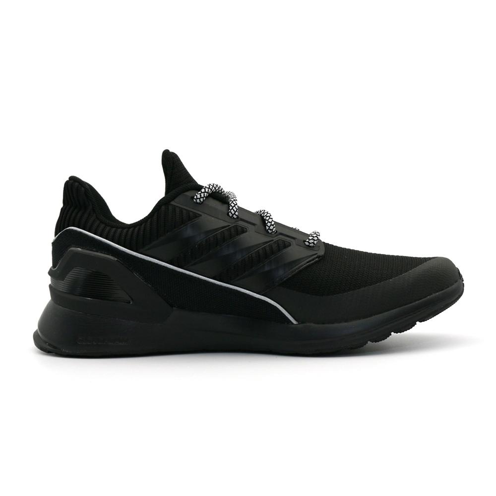 ADIDAS RapidaRun KNIT J 童 跑步鞋 黑-EE7638