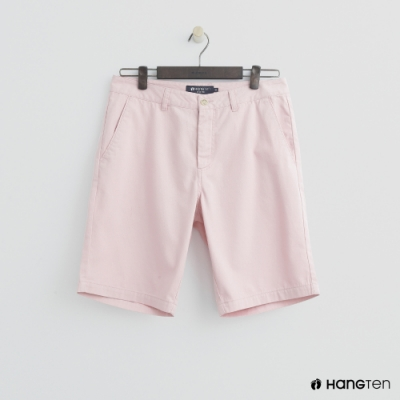 Hang Ten - 男裝 - 素色純面棉質短褲 - 粉