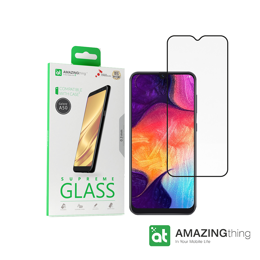AMAZINGthing 三星 Galaxy A50 滿版強化玻璃保護貼