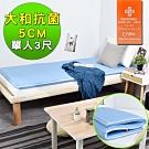 窩床的日子-大和抗菌5cm記憶床墊-單人3x6尺 床墊/單人床墊/抗菌床墊/折疊床墊