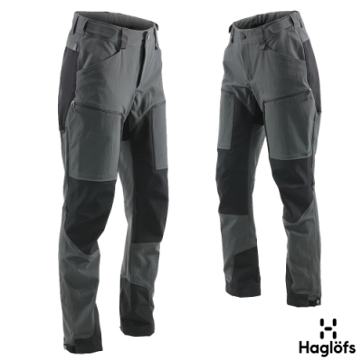 Haglofs 女 Rugged Mountain 耐磨 防水 快乾長褲 磁鐵/黑
