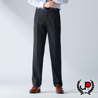 【JYI PIN 極品名店】英倫風魅力款彈力直條打褶西褲_黑斜紋(BW736-2)