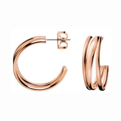 CALVIN KLEIN Sumptuous 系列個性玫瑰金耳環