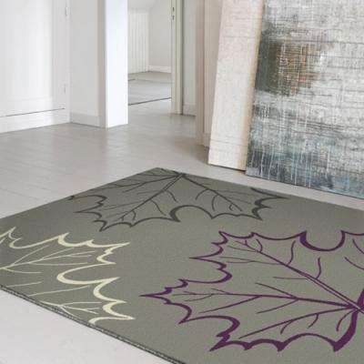 范登伯格 - 艾薇兒 多變視覺地毯 - 灰楓葉 (140 x 200cm)