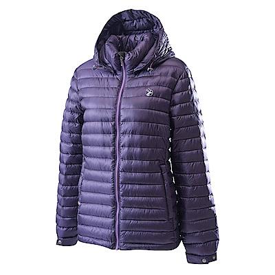 Wildland荒野女700FP時尚輕量羽絨外套紫色