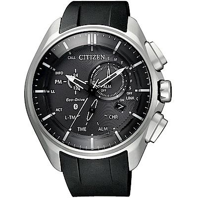 星辰CITIZEN藍芽光動能時尚限量鈦金屬腕錶(BZ1040-09E)