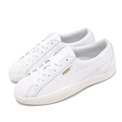 Puma 休閒鞋 Love 皮革 基本款 女鞋 百搭款 緩震 穿搭推薦 上學 小白鞋 白 37210401