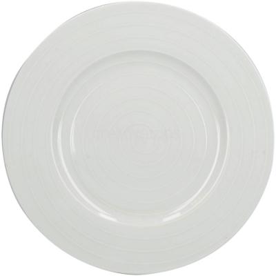 《CreativeTops》漣漪淺餐盤(白21cm)
