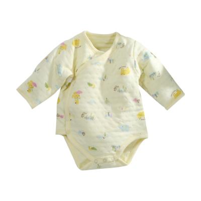 台灣製三層棉厚純棉護手連身衣 b0219 魔法Baby