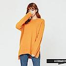 H:CONNECT 韓國品牌 女裝-圓領側開岔毛衣-黃
