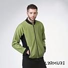 L'ARMURE 男裝 立體紋理 飛行夾克 紋理黃