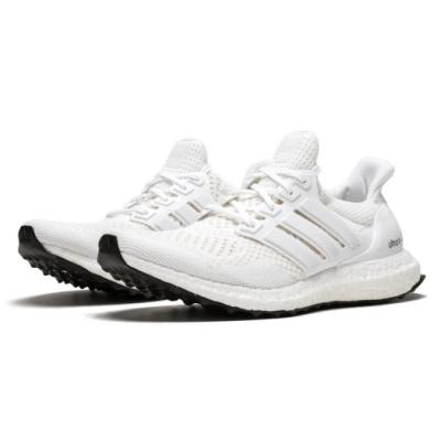 adidas 慢跑鞋 ULTRA BOOST 襪套式 男女鞋 愛迪達 路跑 緩震 透氣 情侶鞋 穿搭 白 S77416