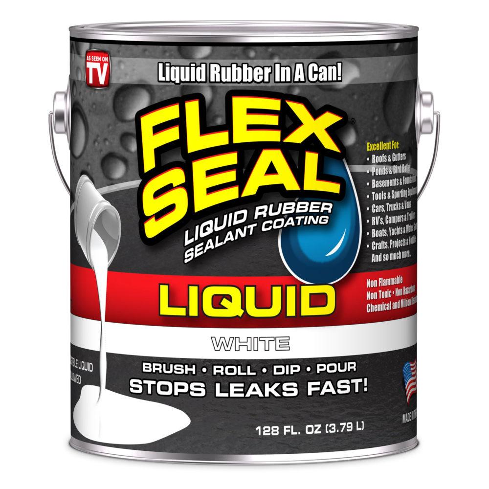 美國FLEX SEAL LIQUID萬用止漏膠(亮白色/1加侖包裝/美國製)