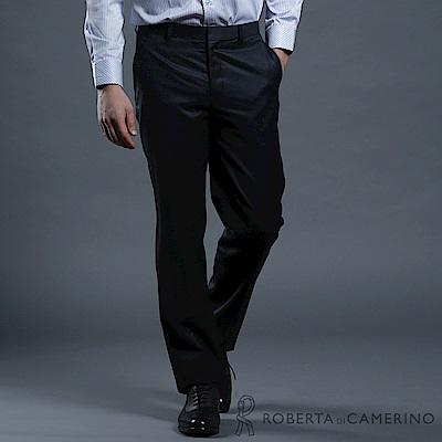 ROBERTA諾貝達 台灣製 合身版 輕量保暖 條紋西裝褲 黑藍