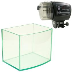《台製》高透析海灣5mm空缸(6吋)+《五段式》自動餵食器 (可設定時程)