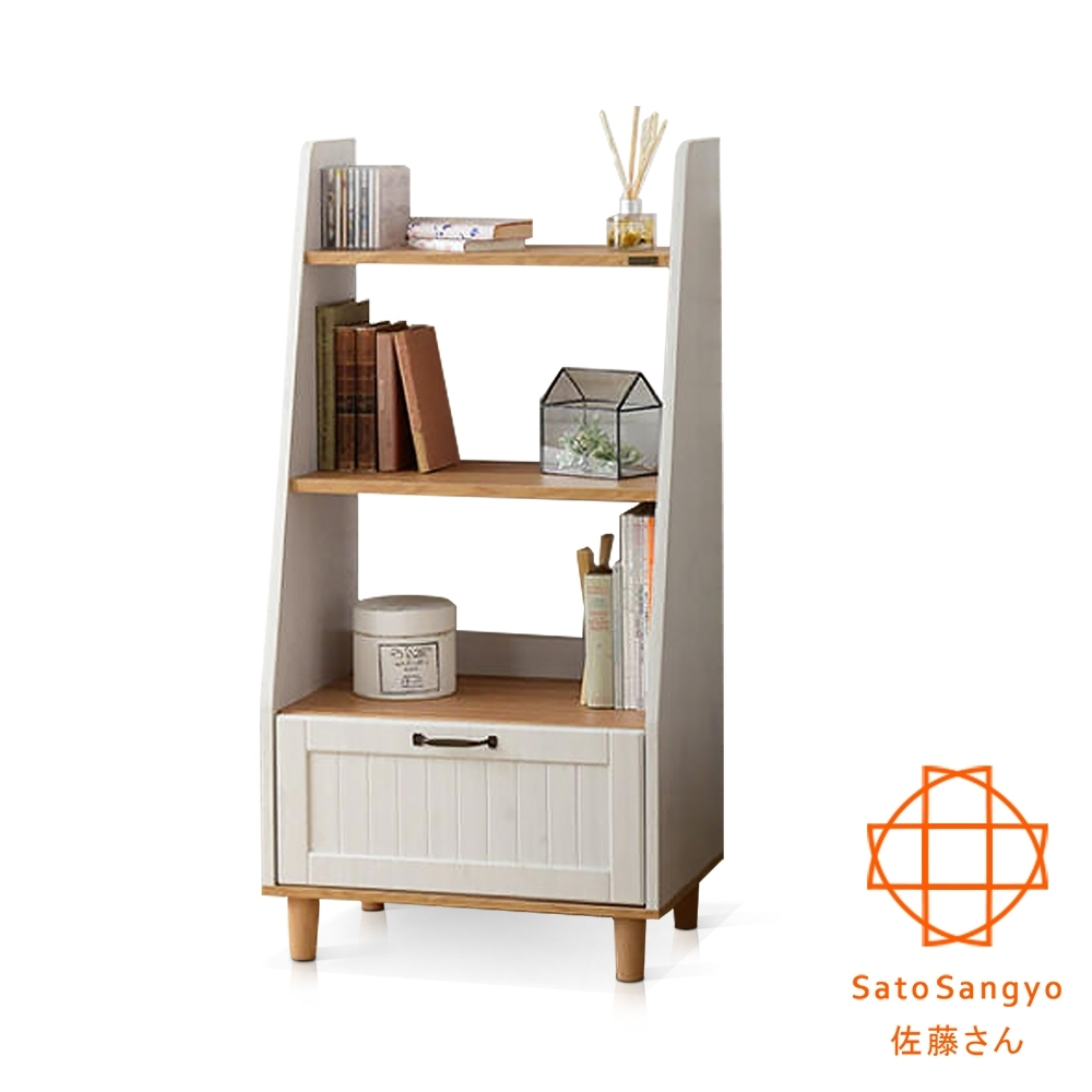 Sato-BILY長崎之夏三格開放單抽收納櫃‧幅60cm