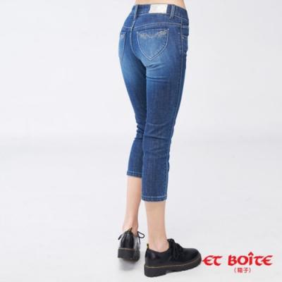ET BOîTE  BLUE WAY –巴洛克彈性七分褲