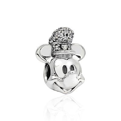 Pandora 潘朵拉 迪士尼系列 復古帽子米奇鑲鋯  純銀墜飾 串珠