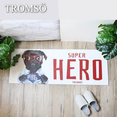 TROMSO 廚房防油皮革地墊-K334小墨犬英雄