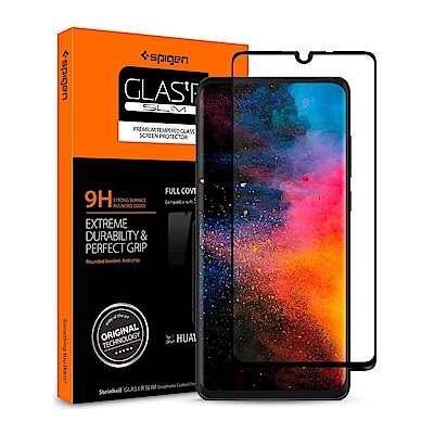 SGP / Spigen HUAWEI P30 Glass FC HD Black-保護貼