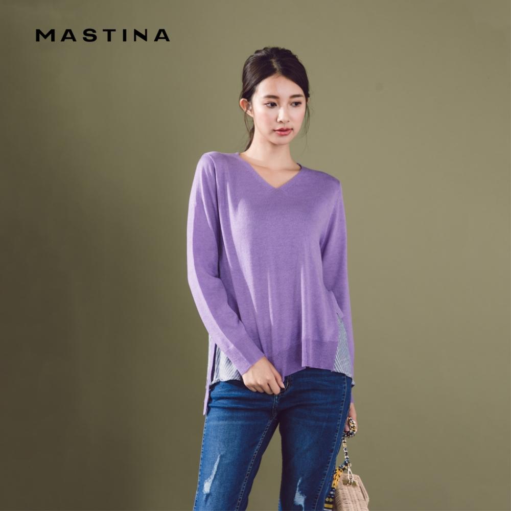 【MASTINA】假兩件寬鬆慵懶-針織衫(三色)
