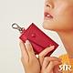 2R 植鞣樹羔牛皮 Leather 復古雙釦鑰匙包 曠野紅 product thumbnail 1